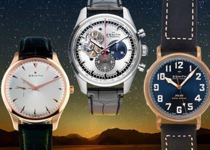 Zenith Uhren Drei Modelle
