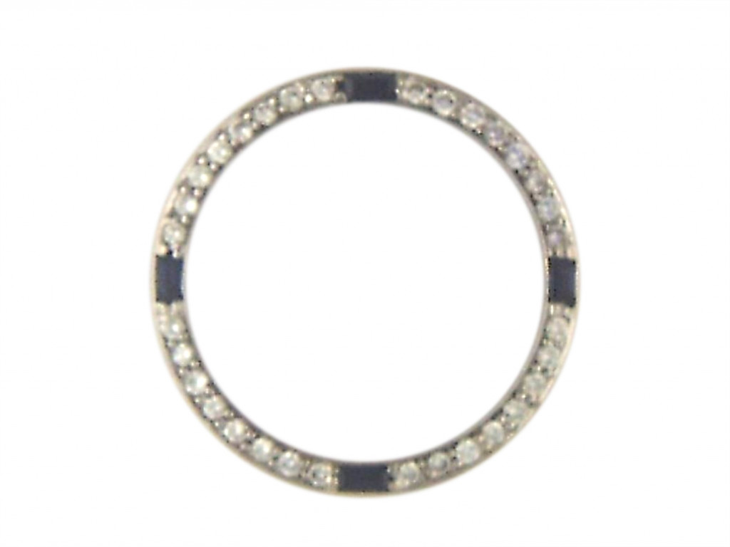 Zubehör - Lünette Gelbgold Diamond Saphir 26mm UVP 2.480,- Neu