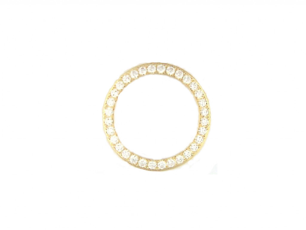 Zubehör - Lünette Gelbgold Diamond 1,45ct 29mm UVP 4.155,- Neu
