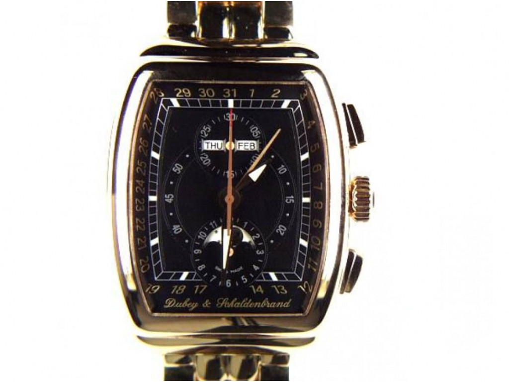 Dubey & Schaldenbrand Gran Chrono Astro Roségold Armband Roségold 50x30mm N E U