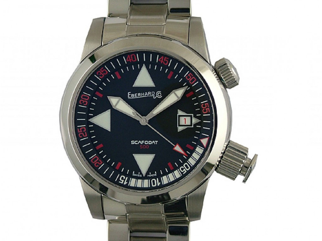 Eberhard & Co Scafodat 500 Taucheruhr Armband Stahl 44mm Neu