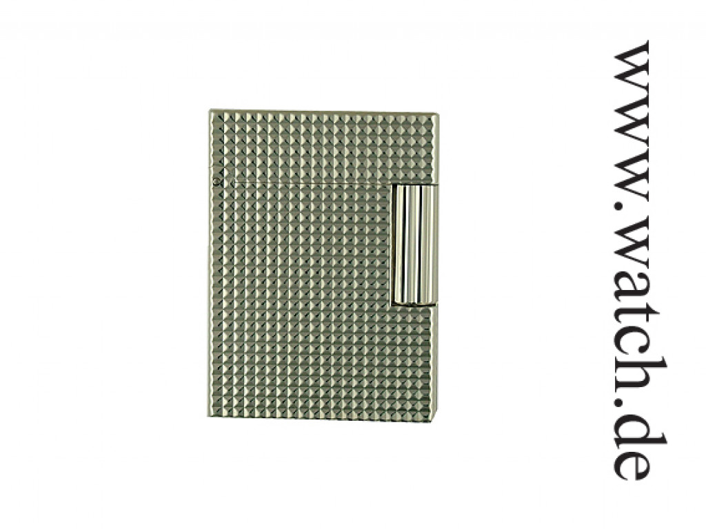 S.T. Dupont Linie 1 Feuerzeug Mini Silber carré Neu
