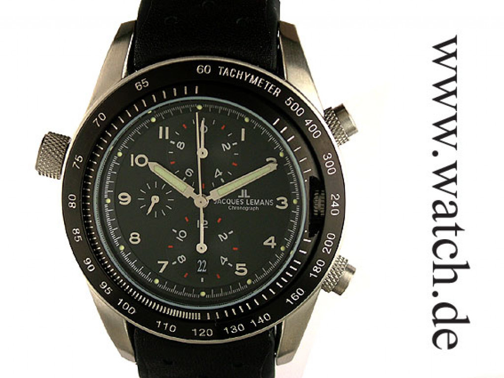 Jacques Lemans Turnable Dualtime Chronograph 44mm UVP 299.- N E U
