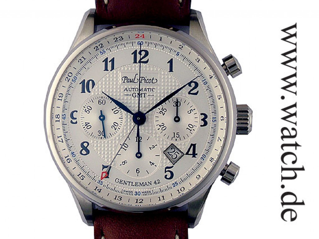 Paul Picot Gentleman Chronograph GMT 42mm Neu