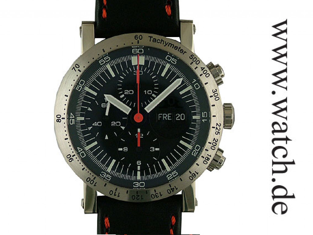 Temption Chronograph Classic Day Date Red 43mm Neu