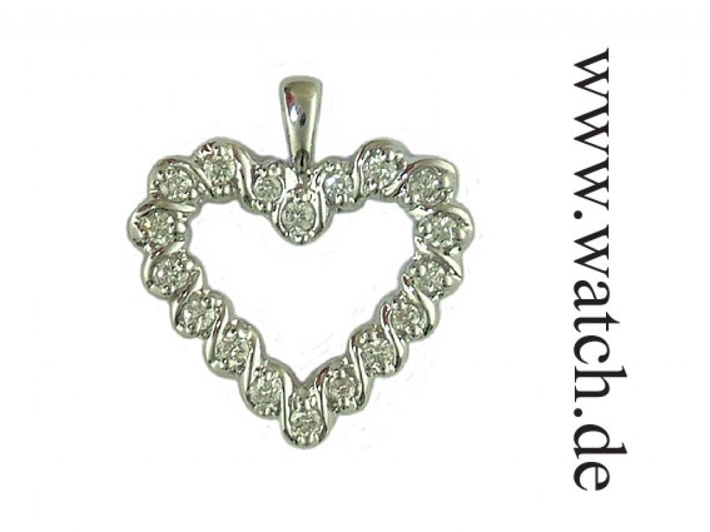 Anhänger Herz Weißgold Diamond 0,25ct UVP 600.- N E U