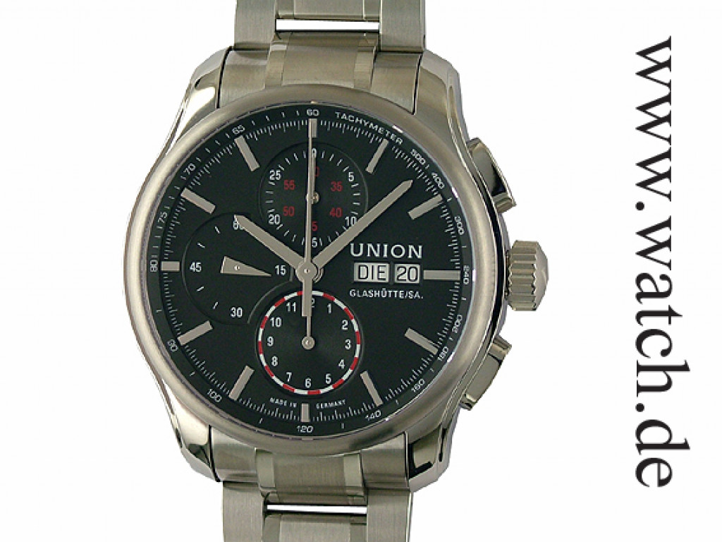 union glash tte viro day date chronograph 43mm uvp 1950. Black Bedroom Furniture Sets. Home Design Ideas