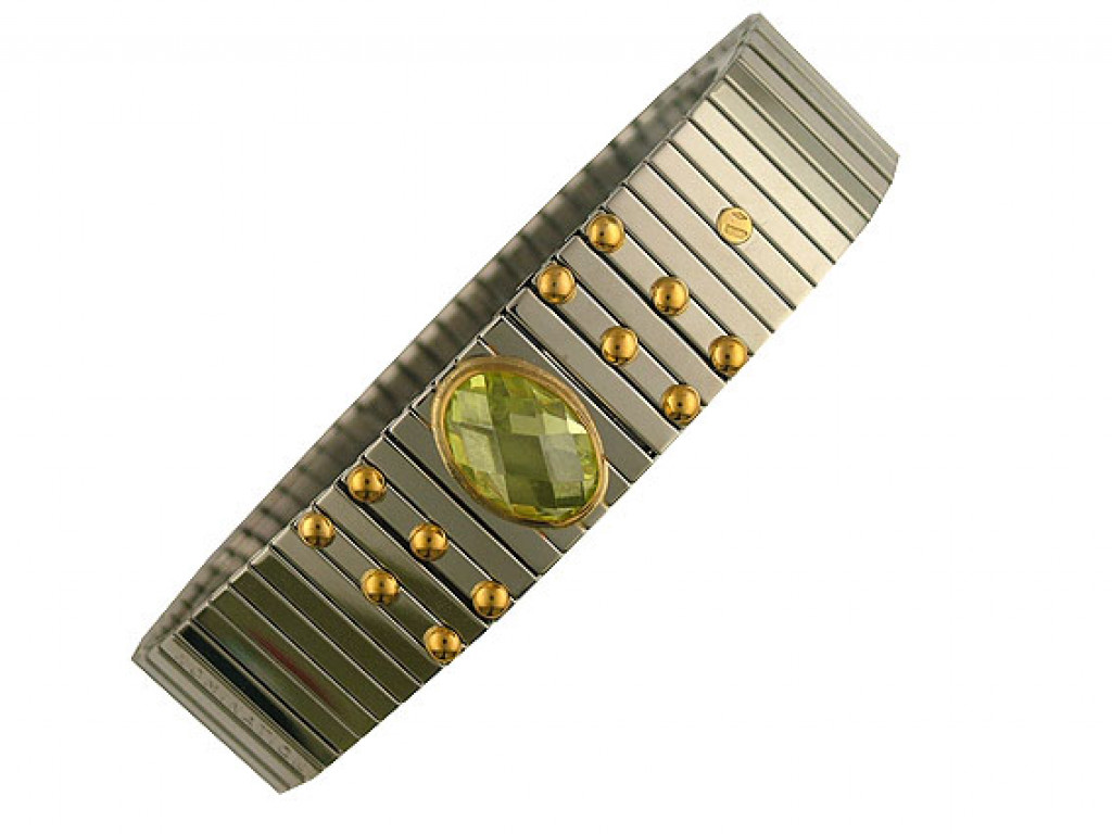 Nomination Armband Stahl/Gold Citrin UVP 98.- N E U