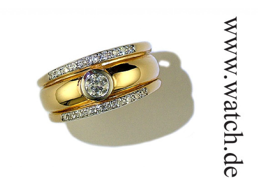 Ring Gelbgold Diamond 0,47ct UVP 2860.- N E U