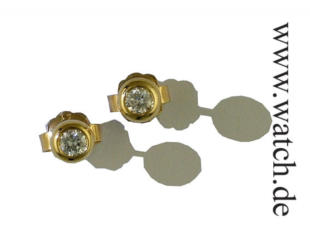 Ohrstecker Gelbgold Solitär Diamond 0,21ct UVP 720.- N E U
