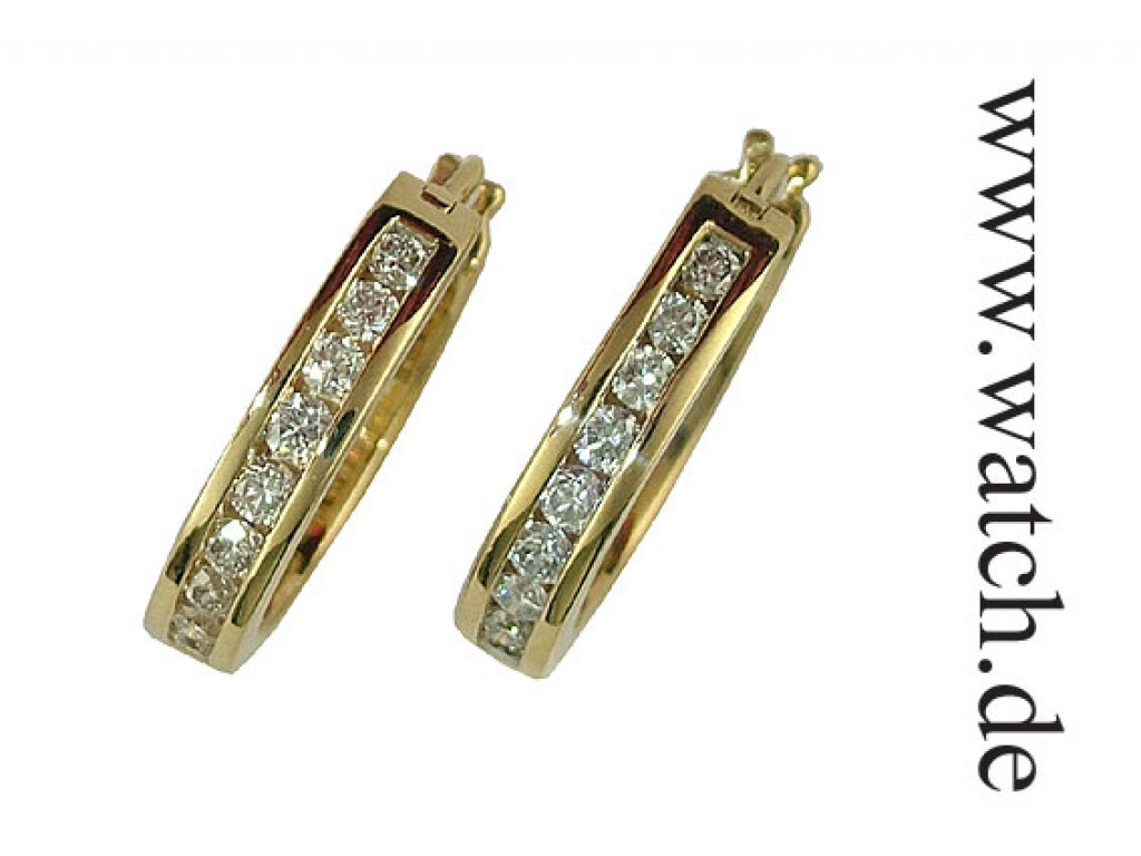 Shrenuj Creolen Gelbgold Diamond 1,0ct UVP 2860.- N E U