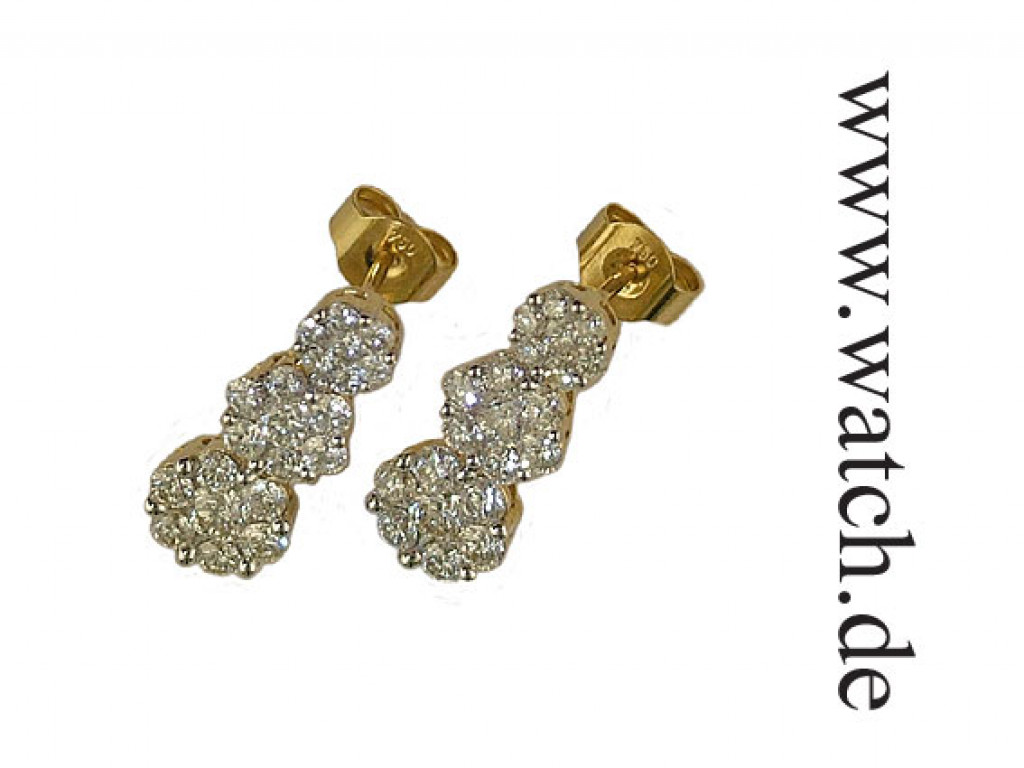 Shrenuj Ohrhänger Gelbgold Diamond UVP 4770.- N E U