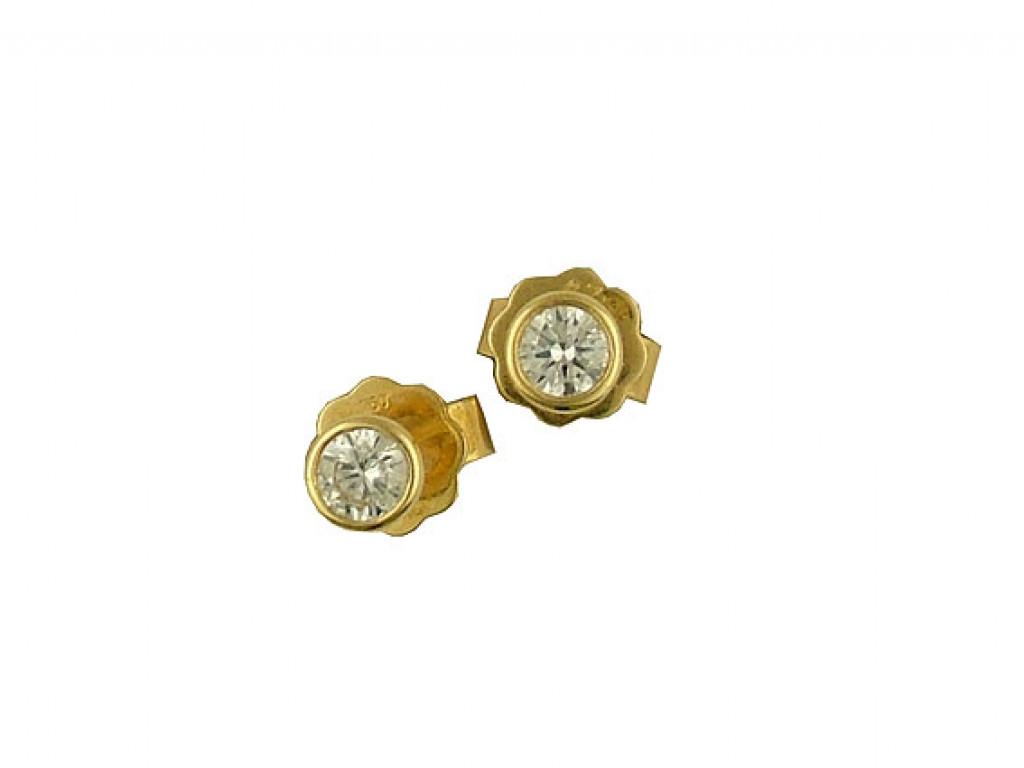 Ohrstecker Solitär Gelbgold Diamond 0,27ct UVP 900.-  N E U