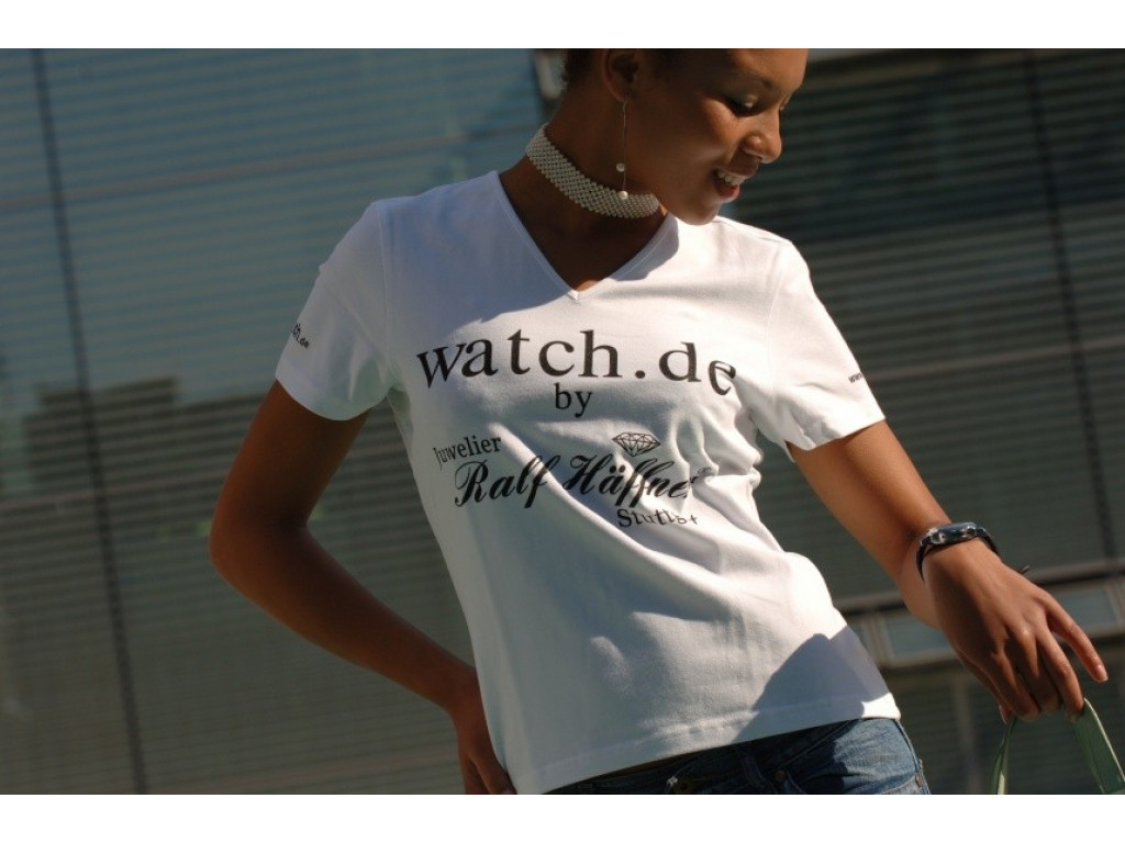 Damen V-Ausschnitt T-Shirt Fruit of the Loom by Juwelier Ralf Häffner