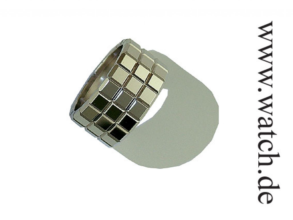 """Chopard Ring """"Ice Cube"""" 18kt Weißgold Breite 15mm UVP 1.660.- Ungetragen"""
