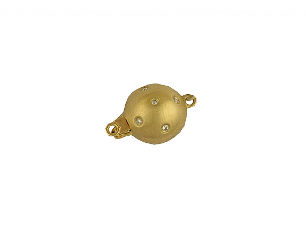 Schließe für Perlcollier Gelbgold Diamanten UVP 425.- N E U