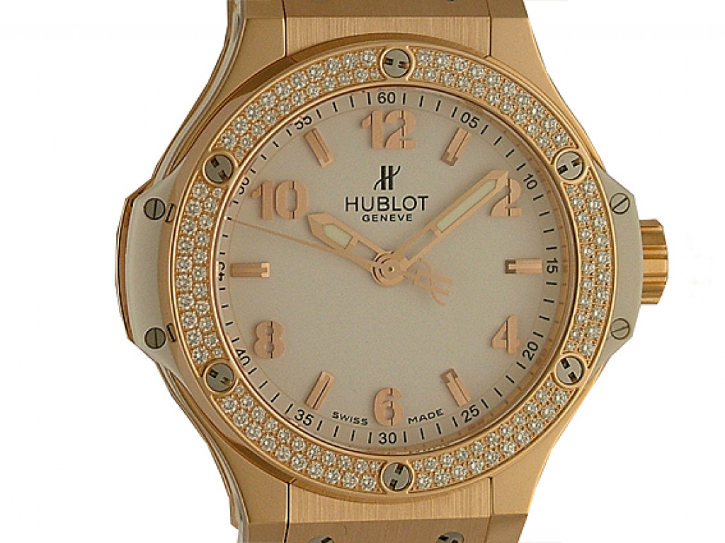 Hublot Big Bang Roségold Diamond 38mm UVP 22.700,- Ungetragen