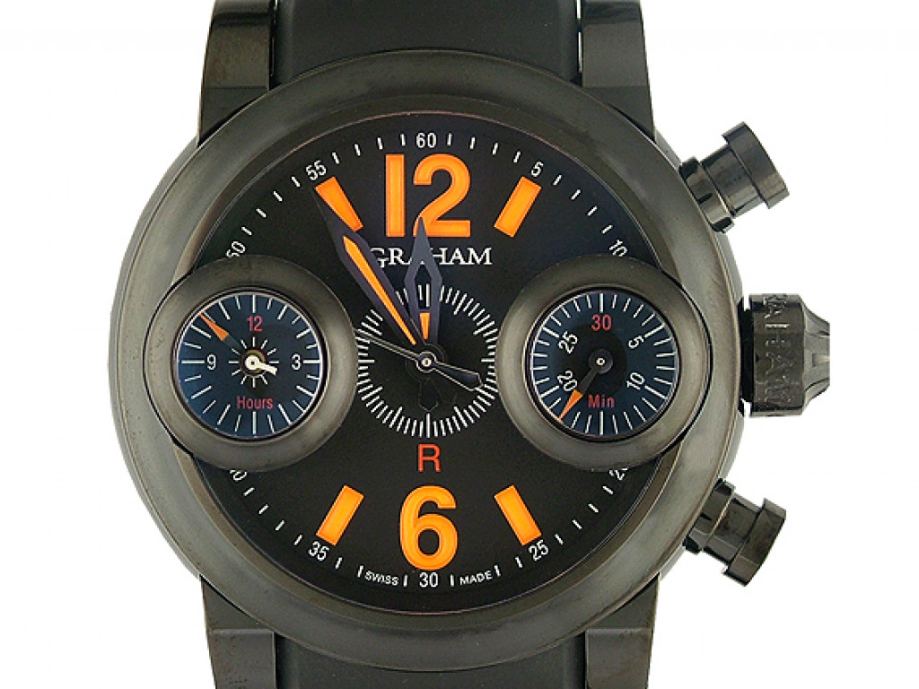 Graham Swordfish Blackknight Orange Limitiert 46mm UVP 7500.- UNGETRAGEN
