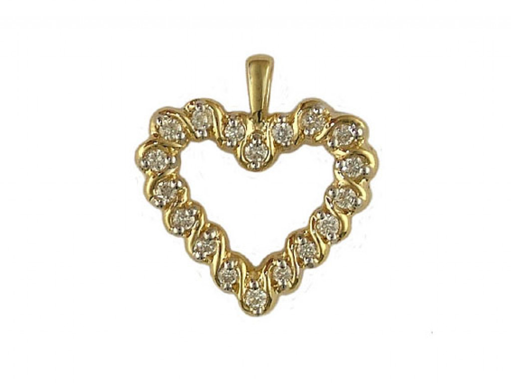 Shrenuj Anhänger Gelbgold Diamond Herz 0,25ct UVP 769.- N E U