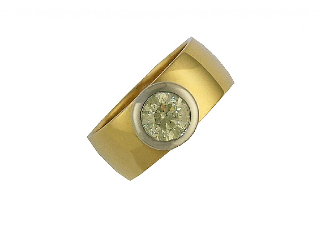 Ring Gelbgold Diamond 1,01ct Größe 55 UVP 6120.- N E U