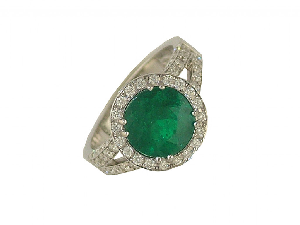 Ring Weißgold Diamond Smaragd 2,47ct Größe 56 UVP 15240.- N E U