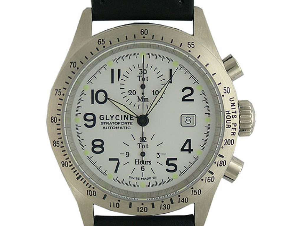 Glycine Stratoforte Chronograph Automatic 46mm Neu