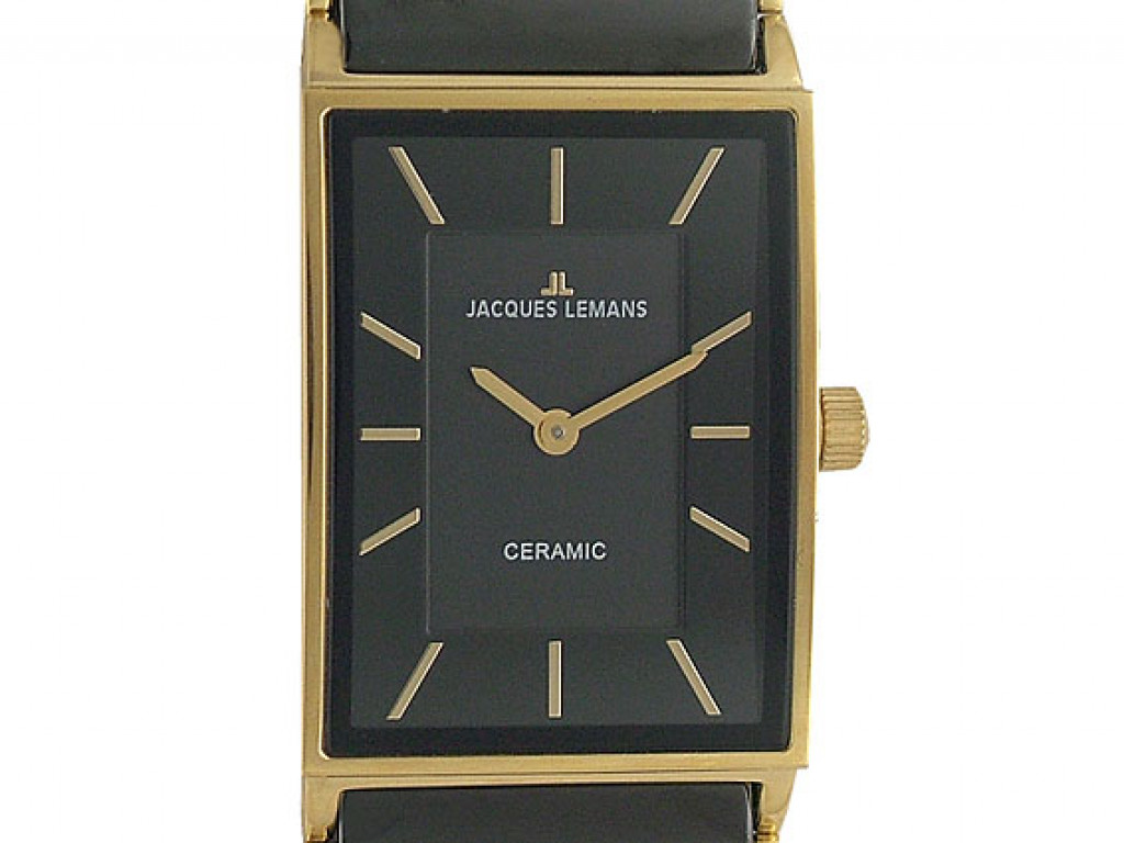 Jacques Lemans Ceramic/Gelbgold 34x24mm UVP 349,- Neu