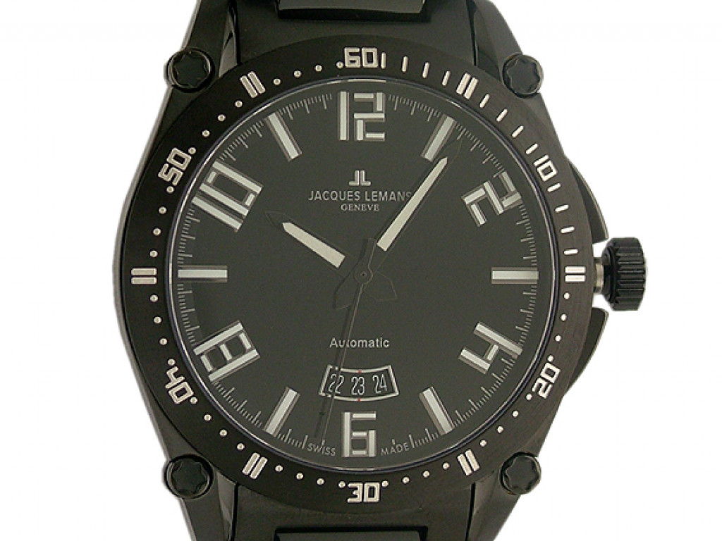 Jacques Lemans Automatic Black 44mm UVP 549.- NEU