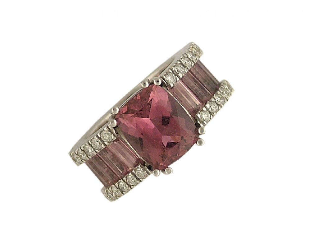 Ring Weißgold Turmalin Diamond Größe 55 UVP 6250.- N E U