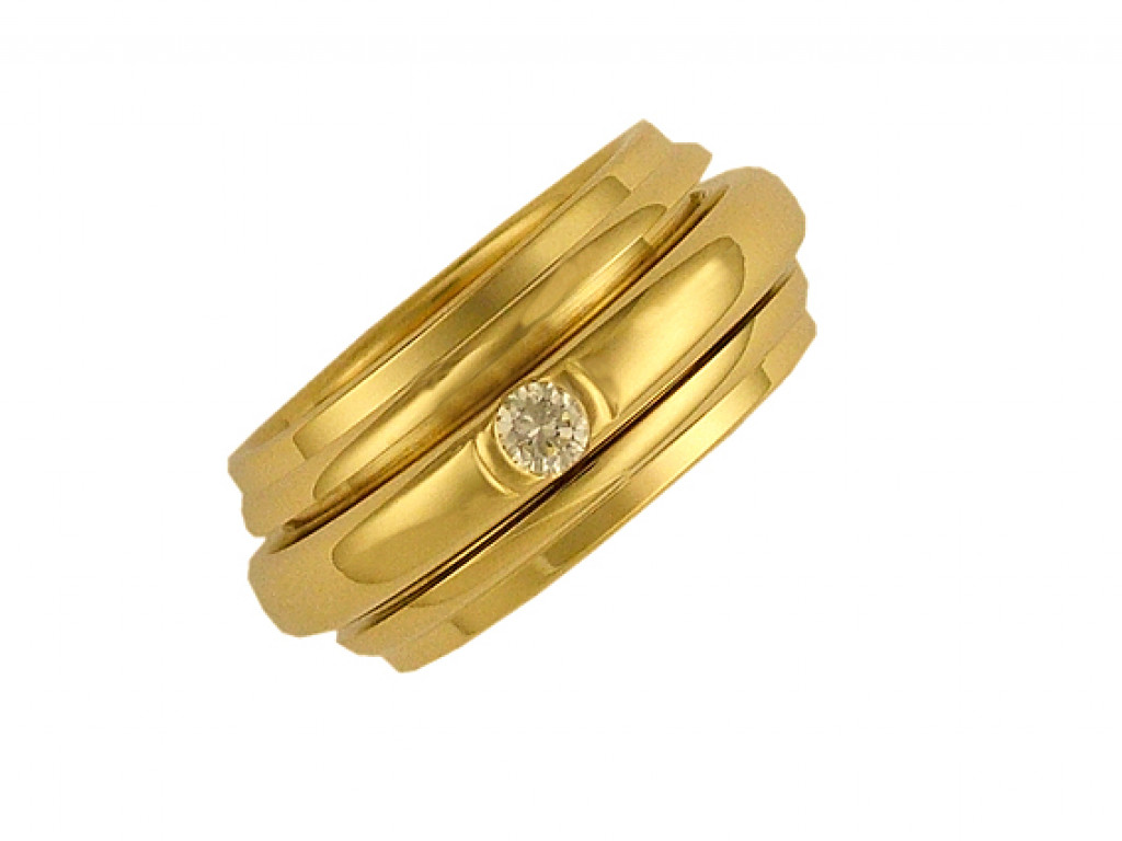 Ring Rotary Memoire Gelbgold Diamond 0,13ct  UVP 3.695,- Neu