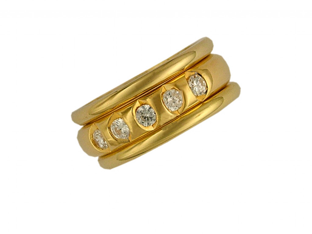 Peter Heim Ring Memoire Gelbgold Diamond 0,55ct UVP 5700.- N E U