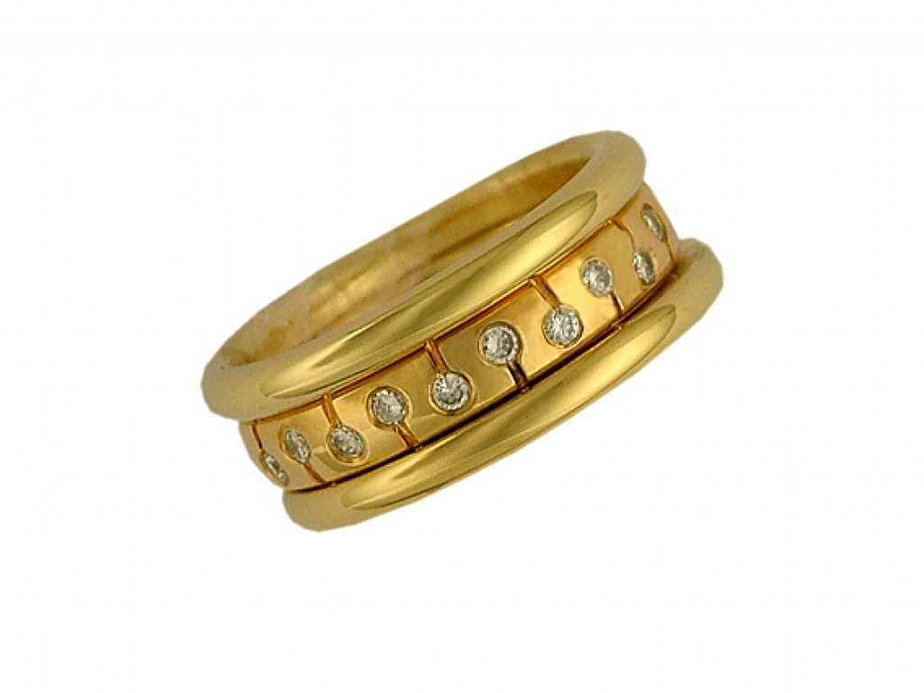 Peter Heim Ring Memoire Gelbgold Diamond 0,24ct UVP 3680.- N E U