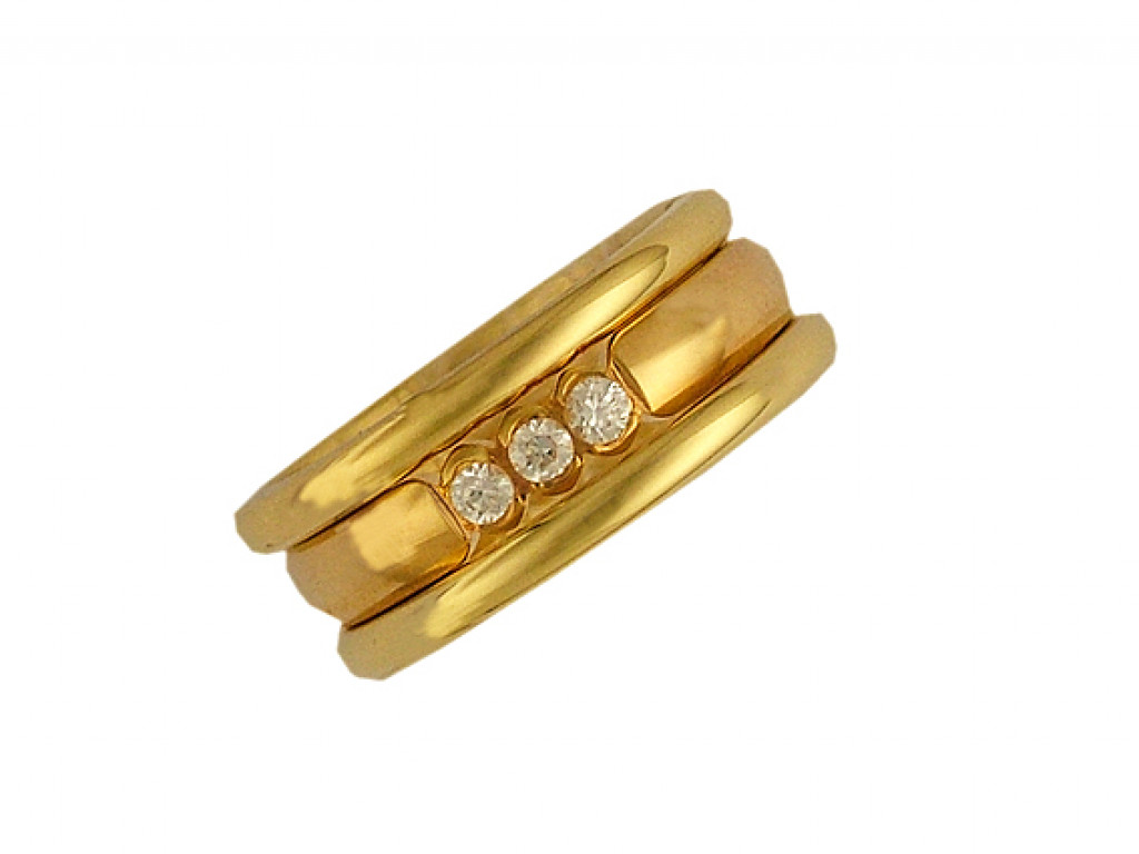 Peter Heim Ring Memoire Gelbgold Diamond 0,15ct UVP 3440.- NEU