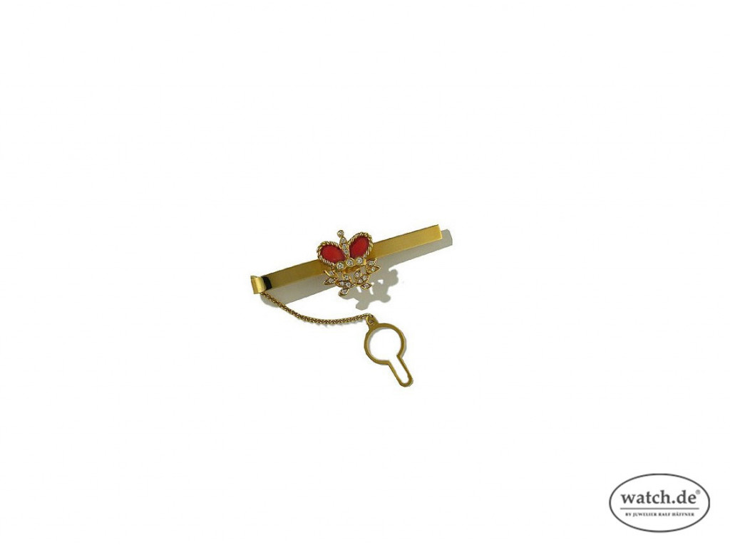 Krawattenklammer Krone 18kt Gelbgold UVP 1.889,- Neu