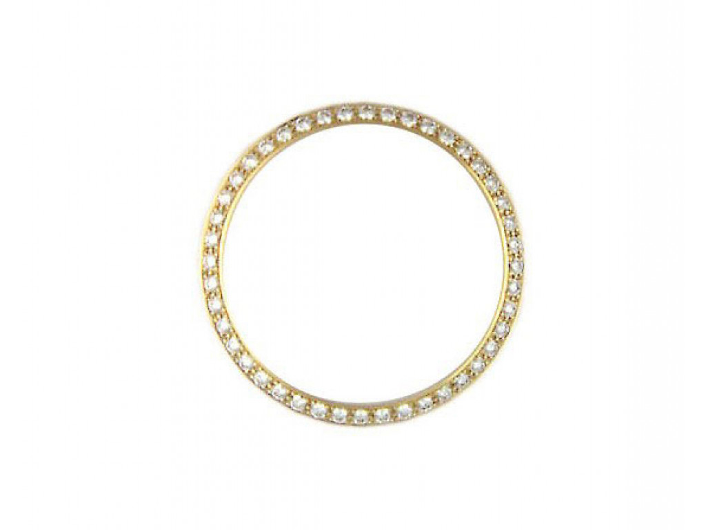 Zubehör - Lünette 18kt Gelbgold Diamond 1,0ct 34mm UVP 3.645,- Neu
