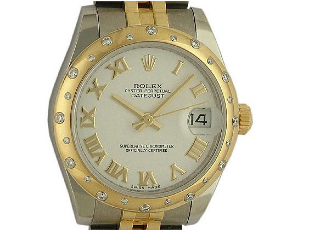 Rolex Datejust Medium Stahl Gelbgold Diamond Armband Jubilé 31mm Ref.178343 Ungetragen