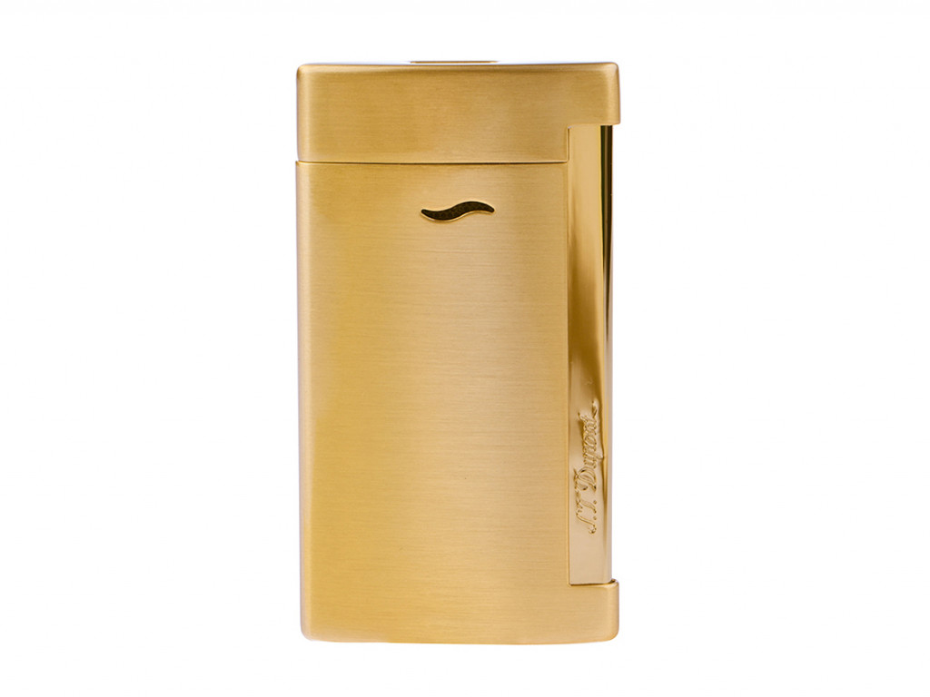 S.T. Dupont Feuerzeug Slim 7 Gelbgold gebürstet Ref.027711 Box&Pap. Full Set UVP 150,-€ Neu
