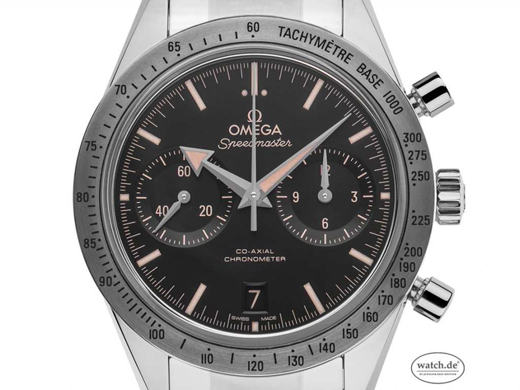 Omega Speedmaster '57 Co-Axial Stahl Automatik Chronograph Armband Stahl 41mm Box&Pap. Full Set Ungetragen mit Zertifikat über 7.800,-€