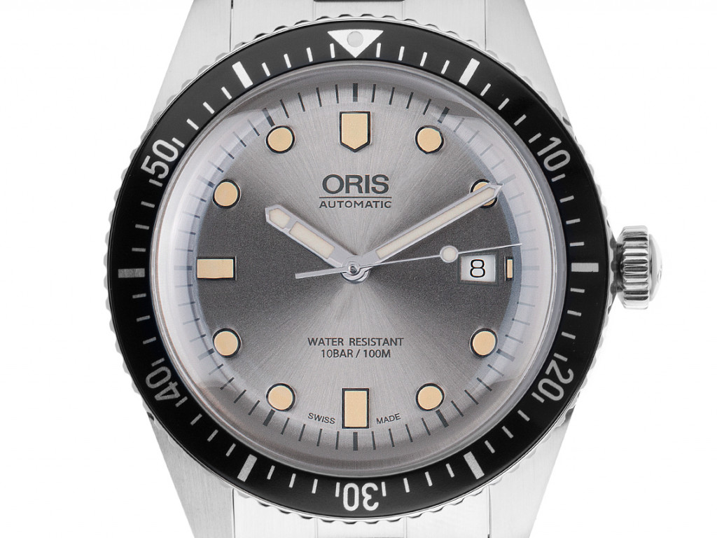 Oris Divers Sixty-Five Stahl Automatik Armband Stahl 42mm Box&Beschreibung Ungetragen