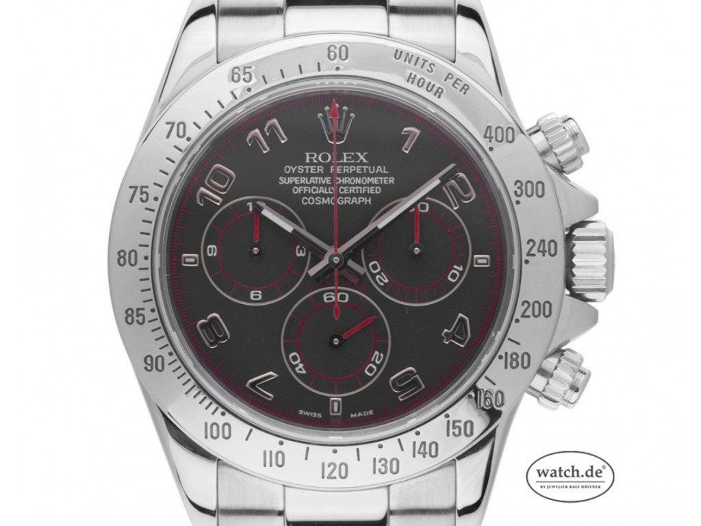 Rolex Daytona Stahl Racing Black Dial Automatik Chronograph 40mm Ref.116520 Vintage Bj.2006 Box&Beschreibung wie Neu mit Zertifikat über 23.500,-€