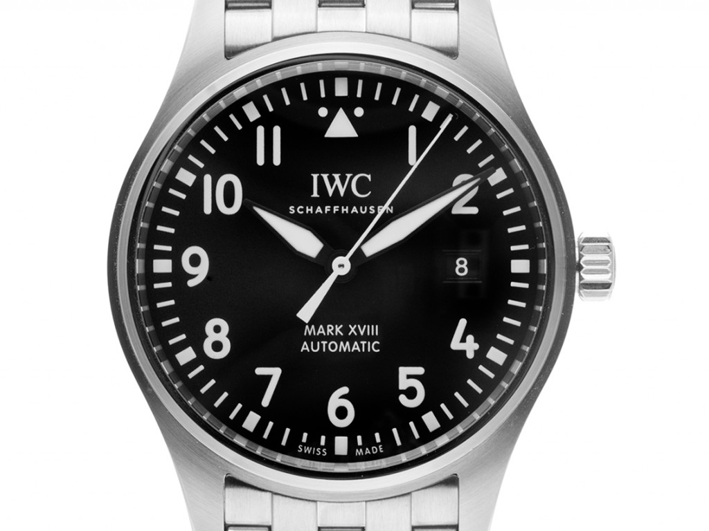 IWC Pilot´s Watch Mark XVIII Stahl Automatik Armband Stahl 40mm Ref.IW327011 Box&Pap. Full Set Ungetragen mit Zertifikat über 5.490,-€