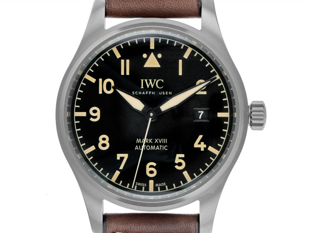 IWC Pilot's Watch Mark XVIII Heritage Titan Automatik Armband Leder 40mm Ref.IW327006 Ungetragen mit Zertifikat über 4.710,-€