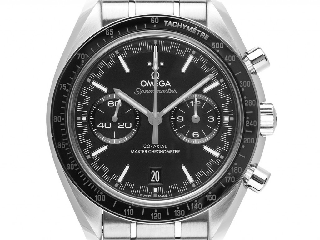 Omega Speedmaster Racing Co-Axial Master Stahl Automatik Chronograph Armband Stahl 44mm Box&Pap. Full Set Ungetragen mit Zertifikat über 8.600,-€