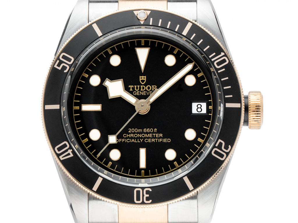 Tudor Heritage Black Bay Stahl Gelbgold Automatik Armband Stahl Gelbgold 41mm Ref.79733N Box&Pap. Full Set Ungetragen mit Zertifikat über 4.750,-€