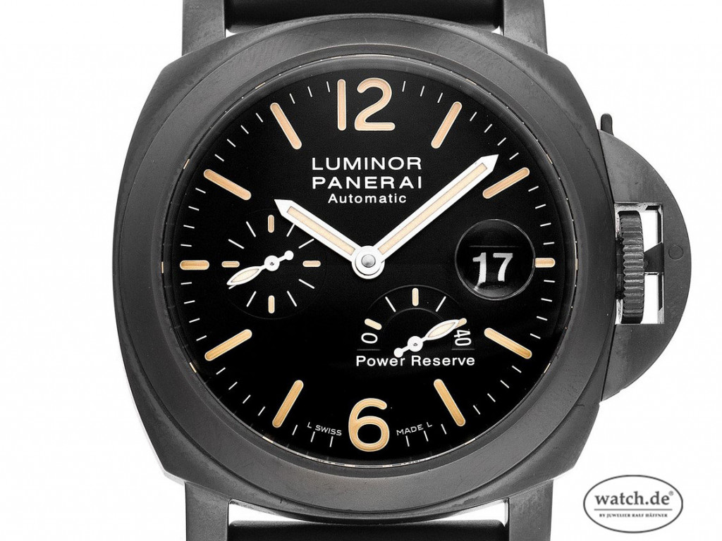 Panerai Luminor Power Reserve Crystal Group Ukraine Stahl Black Automatik Armband Kautschuk Limitiert 44mm Ref.PAM00385 Vintage Bj.2012 Box&Pap. Full Set mit Zertifikat über 18.500,-€