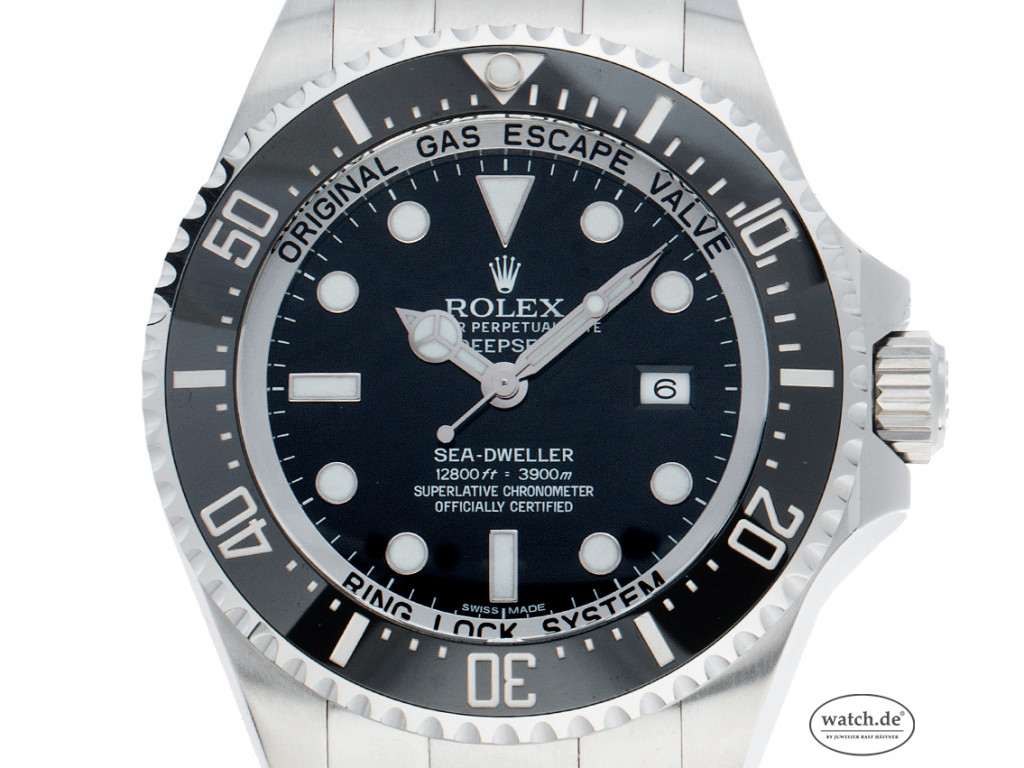 Rolex Sea Dweller Deepsea Stahl Keramik Automatik Armband Oyster 43mm Ref.116660 Vintage Bj.2010 Box&Pap. LC 127 EU Full Set wie Neu mit Zertifikat über 12.800,-€