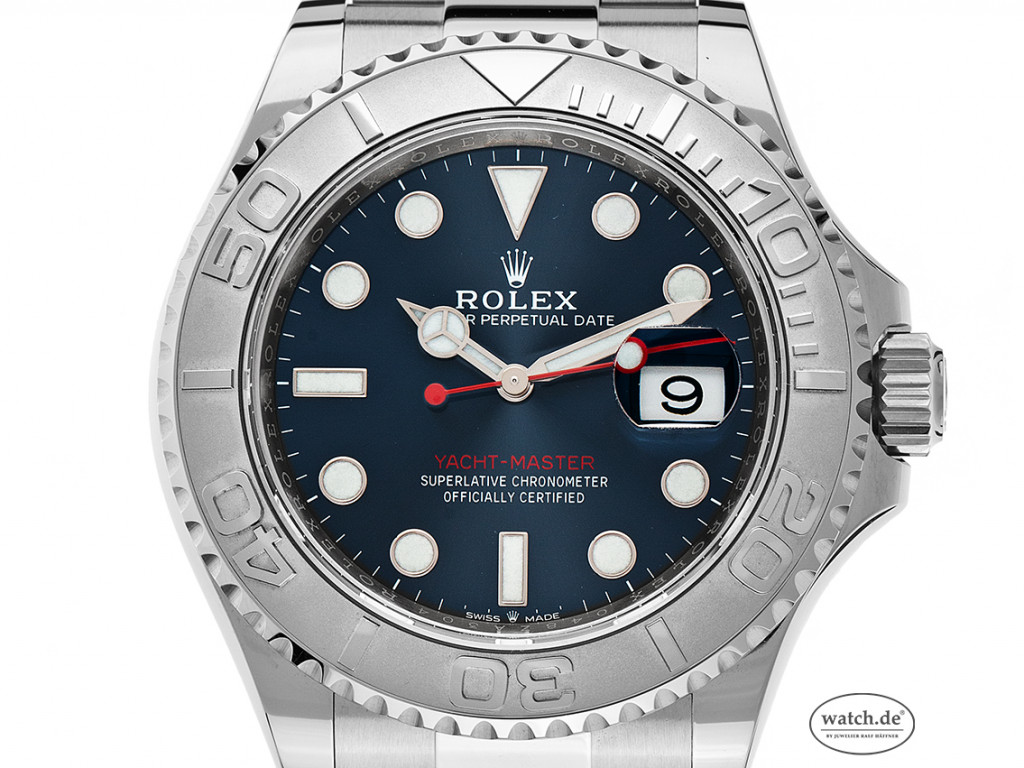 Rolex Yacht-Master Stahl Platin Automatik 40mm Ref.126622 Box&Pap. LC EU Full Set Ungetragen
