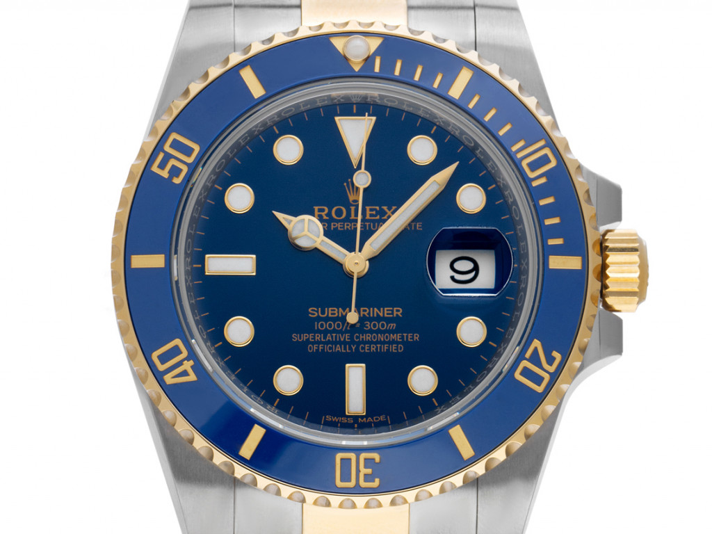 Rolex Submariner Date Stahl Gelbgold Keramik Blau Automatik 40mm Ref.116613LB Bj.2011 Box&Pap. LC EU Full Set wie Neu
