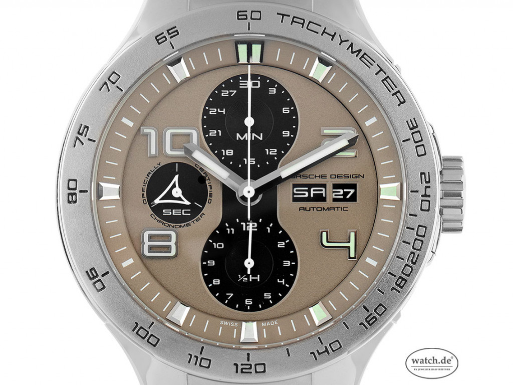 Porsche Design P`6340 Stahl Automatik Chronograph Armband Stahl 45mm Ref.P6340 Vintage Bj.2009 Box&Pap. Full Set wie Neu mit Zertifikat über 3.800,-€