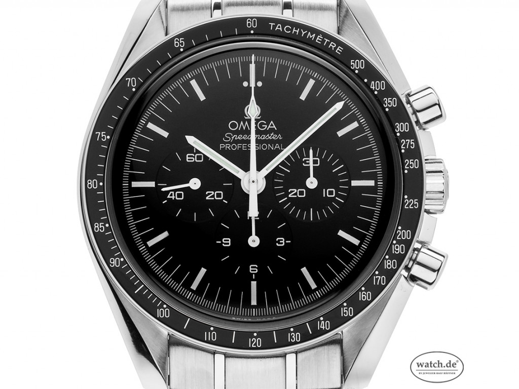 Omega Speedmaster Professional Moonwatch Stahl Handaufzug Chronograph Armband Stahl 42mm Ref.3570.5000 Vinatge Bj.2012 Box&Pap. wie Neu